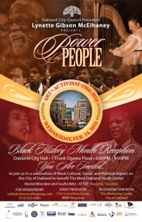 Power of the People - Black History Month 2016 Event flyer