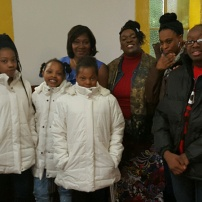 Youth group receives coats at t H3 - HCI Community Partnership Coat drive.